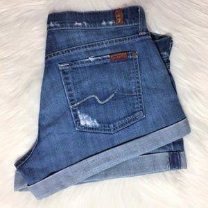 7 For All Mankind Women's Denim Shorts